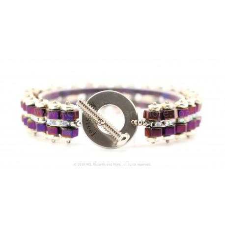 Bike Chain Bracelet - Raspberry