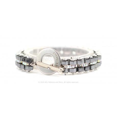 Bike Chain Bracelet - Coal