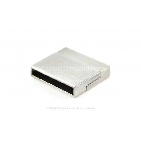 Magnetic Square Clasp - Platinum