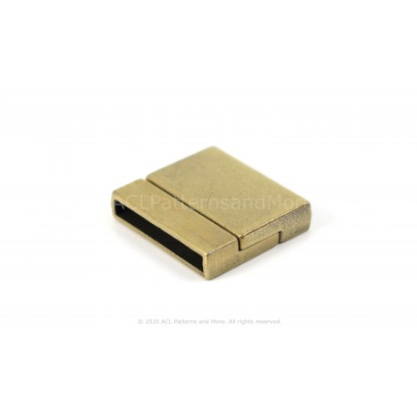 Magnetic Square Clasp -  Brushed Bronze