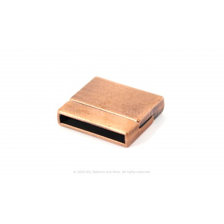Magnetic Square Clasp - Brushed Copper