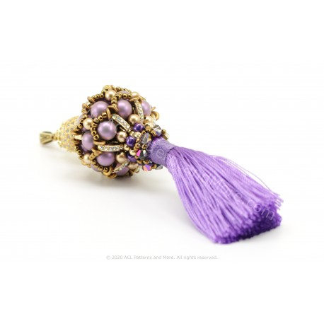Regina Tassel Pendant Kit - Lavender