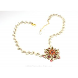 Star Medallion Necklace Kit - Cream
