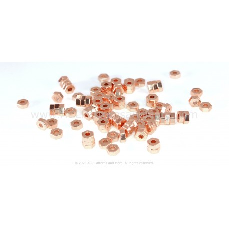 HexA-Two Beads - Rose Gold