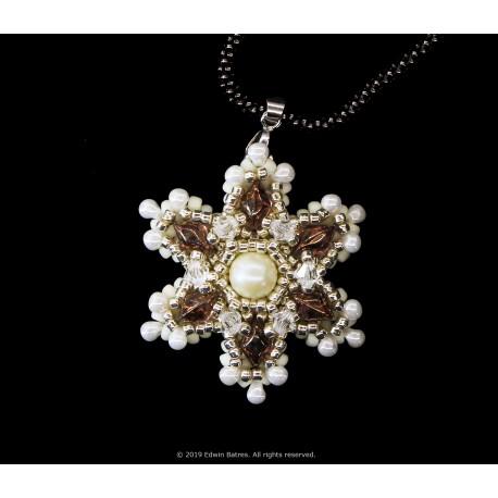 Gem Snowflake Pendant Kit - Amber