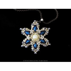Gem Snowflake Pendant Kit - Teal