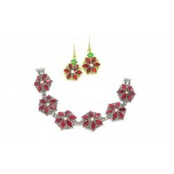 Poinsettia Bracelet and Earrings PDF Pattern