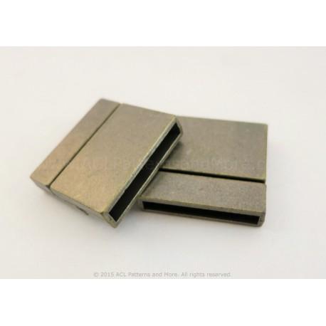 Magnetic Square Clasp -  Antique Bronze