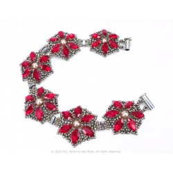 Poinsettia Bracelet Kit - Red