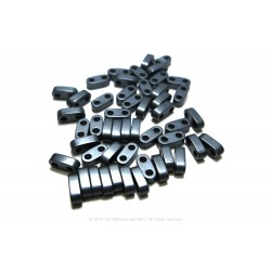 Precision Spacer Beads - Frosted Coal