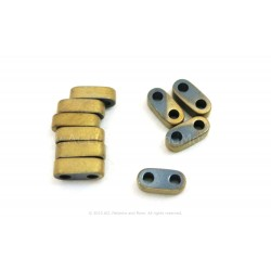 Precision Spacer Beads - Frosted Gold