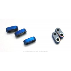 Precision Spacer Beads - Frosted Terra Blue
