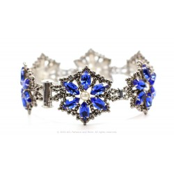 Poinsettia Bracelet Kit - Blue