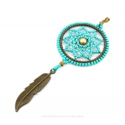 Lotus Dream Catcher Pendant Kit - Turquoise