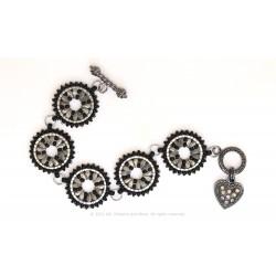 Isabella Bracelet / Earrings Kit - Etched Silver