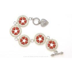 Isabella Bracelet / Earrings Kit - Carmin