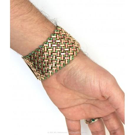 Azteca Bracelet Kit - Rose Gold with Green