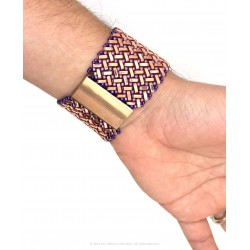 Azteca Bracelet Kit - Rose Gold with Purple