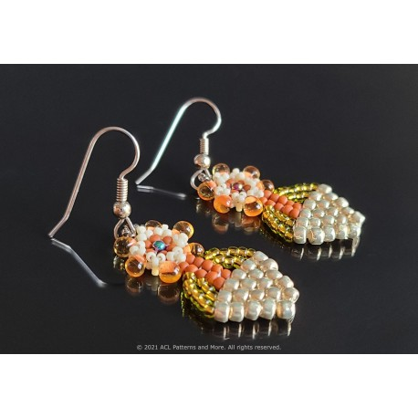 Basket of Flowers Earrings Kit - Peach