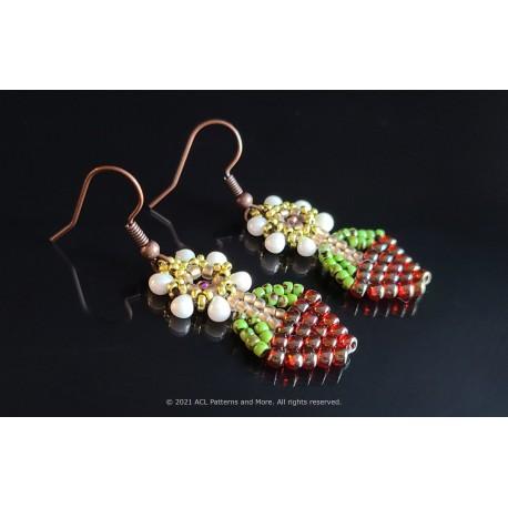 Basket of Flowers Earrings Kit - Peach