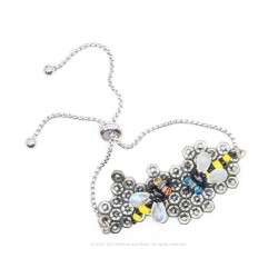 Honeycomb Bracelet Kit -Antique Silver