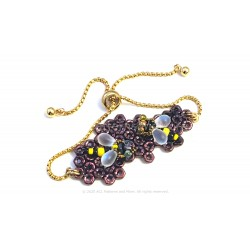 Honeycomb Bracelet Kit - Eggplant