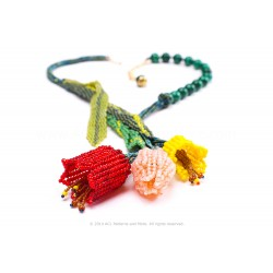 Tulip Bouquet Necklace PDF Pattern