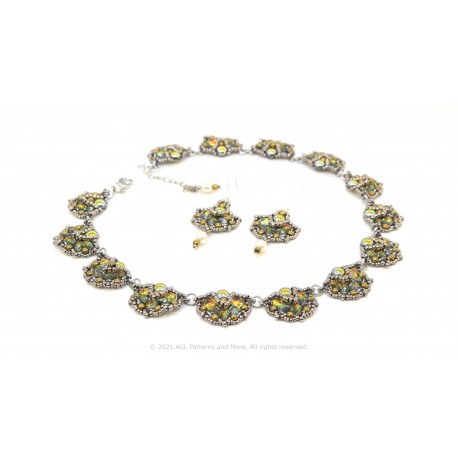 Autumn Ginkgo Leaves Necklace & Earrings Kit