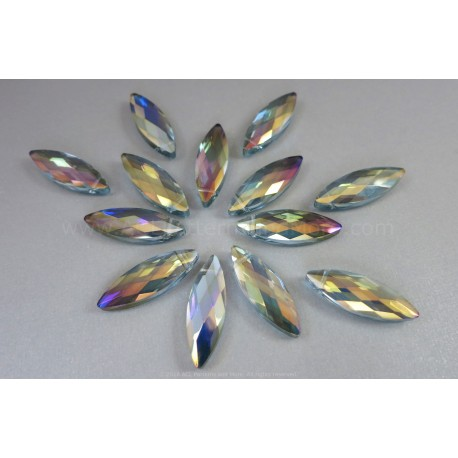 Faceted Oval Bead - Cathedral