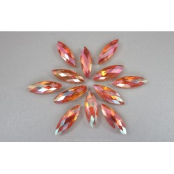 Faceted Oval Beads - Sunset AB