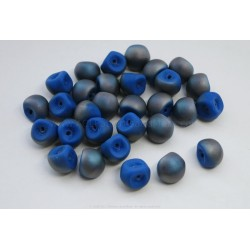 Czech Mushroom Beads - Frosted Denim