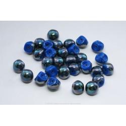 Czech Mushroom Beads - Denim AB