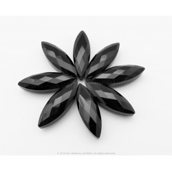 Small Faceted Oval Beads - Jet Black