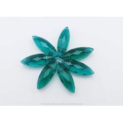 Small Faceted Oval Beads - Teal