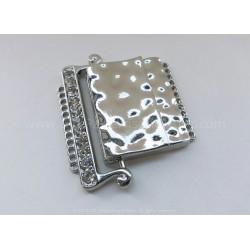 12-Strand Magnetic Rhinestone Clasp - Platinum