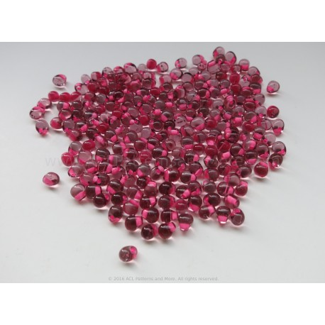 Drop Beads - Pink Lined Purple Glass